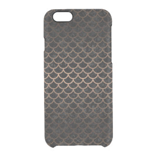 SCALES1 BLACK MARBLE & BRONZE METAL CLEAR iPhone 6/6S CASE