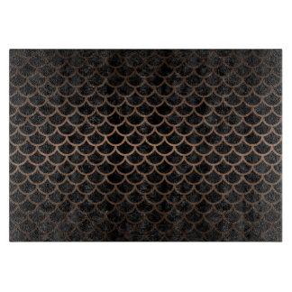 SCALES1 BLACK MARBLE & BRONZE METAL CUTTING BOARD