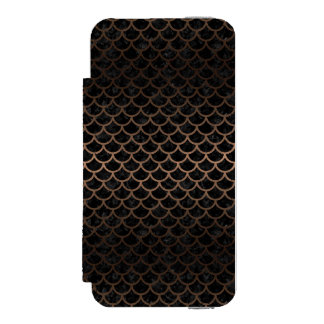 SCALES1 BLACK MARBLE & BRONZE METAL INCIPIO WATSON™ iPhone 5 WALLET CASE