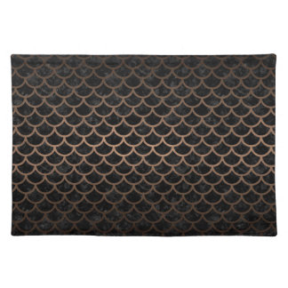 SCALES1 BLACK MARBLE & BRONZE METAL PLACEMAT