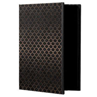SCALES1 BLACK MARBLE & BRONZE METAL POWIS iPad AIR 2 CASE
