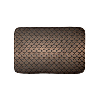 SCALES1 BLACK MARBLE & BRONZE METAL (R) BATH MAT