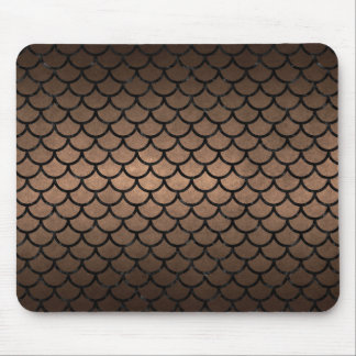 SCALES1 BLACK MARBLE & BRONZE METAL (R) MOUSE PAD