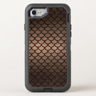 SCALES1 BLACK MARBLE & BRONZE METAL (R) OtterBox DEFENDER iPhone 8/7 CASE