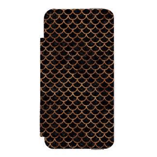 SCALES1 BLACK MARBLE & BROWN STONE INCIPIO WATSON™ iPhone 5 WALLET CASE