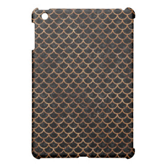 SCALES1 BLACK MARBLE & BROWN STONE iPad MINI CASE