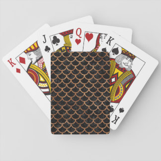 SCALES1 BLACK MARBLE & BROWN STONE PLAYING CARDS