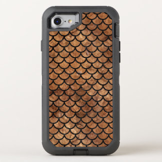 SCALES1 BLACK MARBLE & BROWN STONE (R) OtterBox DEFENDER iPhone 8/7 CASE