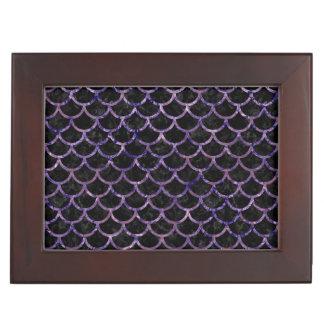 SCALES1 BLACK MARBLE & PURPLE MARBLE KEEPSAKE BOX