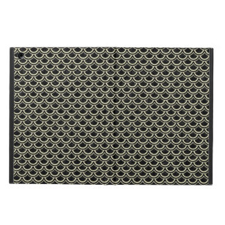 SCALES2 BLACK MARBLE & BEIGE LINEN CASE FOR iPad AIR