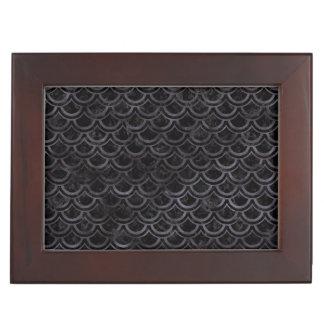 SCALES2 BLACK MARBLE & BLACK WATERCOLOR KEEPSAKE BOX
