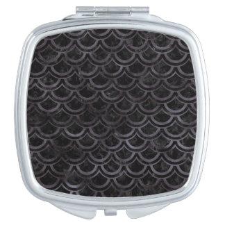 SCALES2 BLACK MARBLE & BLACK WATERCOLOR MAKEUP MIRRORS