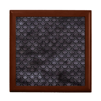 SCALES2 BLACK MARBLE & BLACK WATERCOLOR (R) GIFT BOX