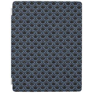 SCALES2 BLACK MARBLE & BLUE DENIM iPad COVER