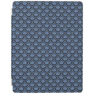 SCALES2 BLACK MARBLE & BLUE DENIM (R) iPad COVER