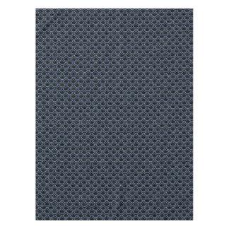 SCALES2 BLACK MARBLE & BLUE DENIM TABLECLOTH