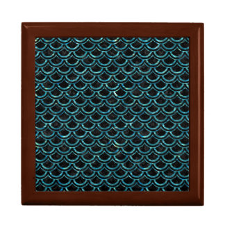 SCALES2 BLACK MARBLE & BLUE-GREEN WATER GIFT BOX