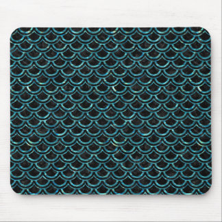 SCALES2 BLACK MARBLE & BLUE-GREEN WATER MOUSE PAD