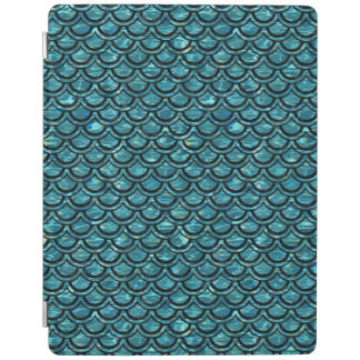 SCALES2 BLACK MARBLE & BLUE-GREEN WATER (R) iPad COVER