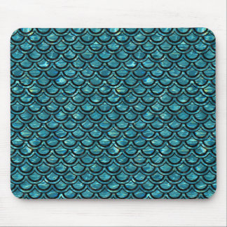 SCALES2 BLACK MARBLE & BLUE-GREEN WATER (R) MOUSE PAD