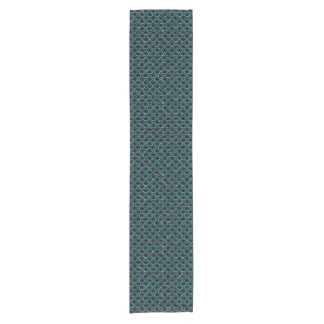 SCALES2 BLACK MARBLE & BLUE-GREEN WATER SHORT TABLE RUNNER