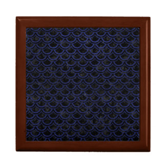 SCALES2 BLACK MARBLE & BLUE LEATHER GIFT BOX