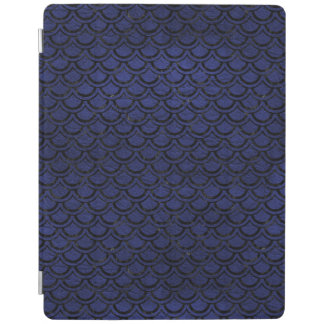 SCALES2 BLACK MARBLE & BLUE LEATHER (R) iPad COVER