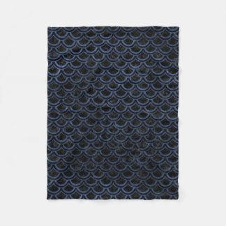SCALES2 BLACK MARBLE & BLUE STONE FLEECE BLANKET