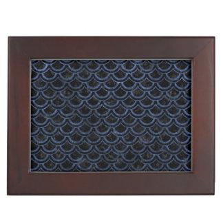 SCALES2 BLACK MARBLE & BLUE STONE KEEPSAKE BOX