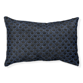 SCALES2 BLACK MARBLE & BLUE STONE PET BED
