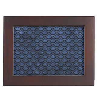 SCALES2 BLACK MARBLE & BLUE STONE (R) KEEPSAKE BOX