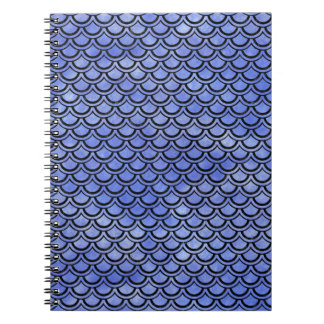 SCALES2 BLACK MARBLE & BLUE WATERCOLOR (R) NOTEBOOK
