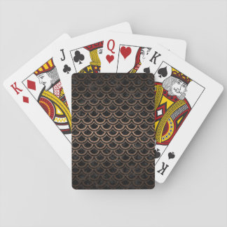 SCALES2 BLACK MARBLE & BRONZE METAL PLAYING CARDS