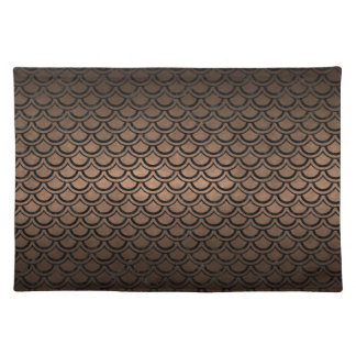 SCALES2 BLACK MARBLE & BRONZE METAL (R) PLACEMAT