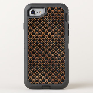 SCALES2 BLACK MARBLE & BROWN STONE OtterBox DEFENDER iPhone 8/7 CASE