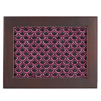 SCALES2 BLACK MARBLE & PINK MARBLE KEEPSAKE BOXES