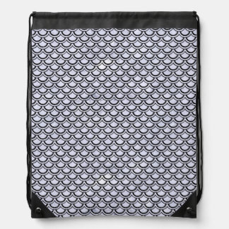 SCALES2 BLACK MARBLE & WHITE MARBLE (R) DRAWSTRING BAG