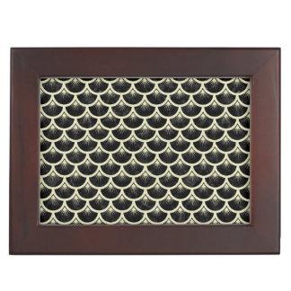 SCALES3 BLACK MARBLE & BEIGE LINEN KEEPSAKE BOX