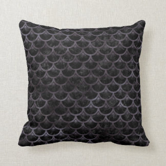 SCALES3 BLACK MARBLE & BLACK WATERCOLOR CUSHION