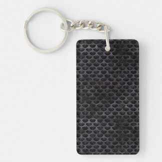 SCALES3 BLACK MARBLE & BLACK WATERCOLOR KEY RING