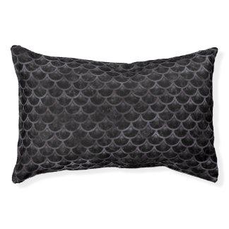 SCALES3 BLACK MARBLE & BLACK WATERCOLOR PET BED