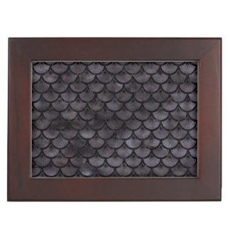 SCALES3 BLACK MARBLE & BLACK WATERCOLOR (R) KEEPSAKE BOX