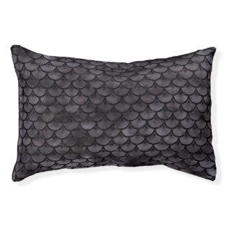 SCALES3 BLACK MARBLE & BLACK WATERCOLOR (R) PET BED
