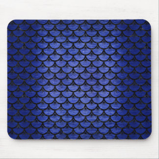 SCALES3 BLACK MARBLE & BLUE BRUSHED METAL (R) MOUSE PAD