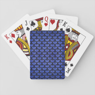 SCALES3 BLACK MARBLE & BLUE BRUSHED METAL (R) PLAYING CARDS