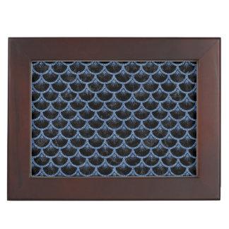SCALES3 BLACK MARBLE & BLUE DENIM KEEPSAKE BOX