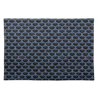 SCALES3 BLACK MARBLE & BLUE DENIM PLACEMAT