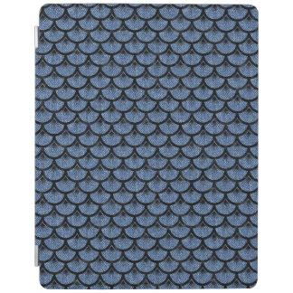 SCALES3 BLACK MARBLE & BLUE DENIM (R) iPad COVER