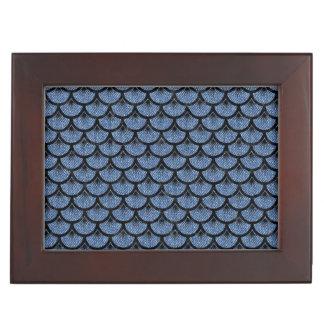 SCALES3 BLACK MARBLE & BLUE DENIM (R) KEEPSAKE BOX