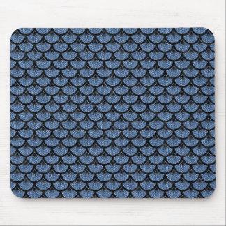 SCALES3 BLACK MARBLE & BLUE DENIM (R) MOUSE PAD